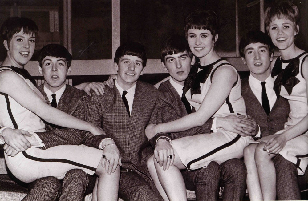 The Beatles with the Vernons Girls, 1963.