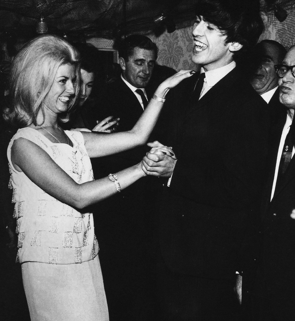 George Harrison dancing at a party held by washing-machine tycoon John Bloom, 1963.