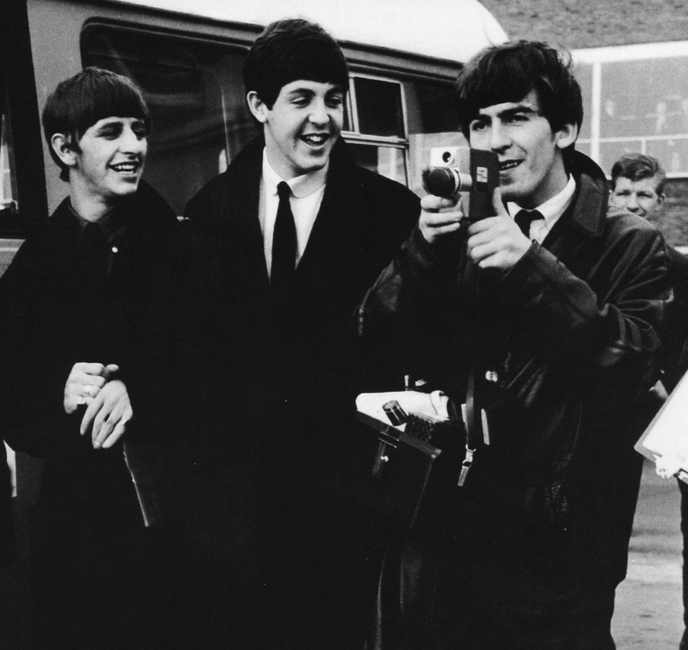 The Beatles returning from their Swedish tour of 1963.