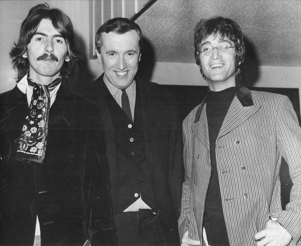 George Harrison and John Lennon with David Frost, October 4th 1967.