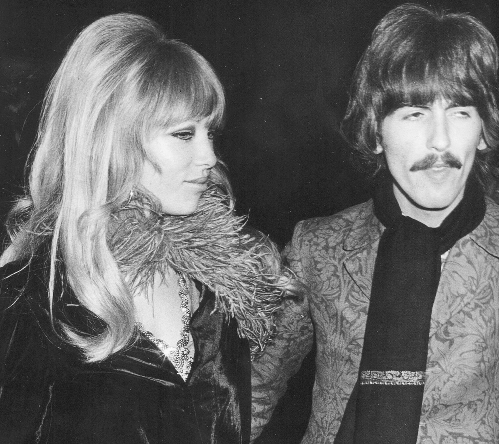 George Harrison and Pattie Boyd, 1968.