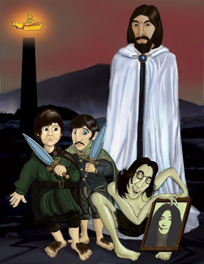 Beatles/Lord of the Rings fan art.