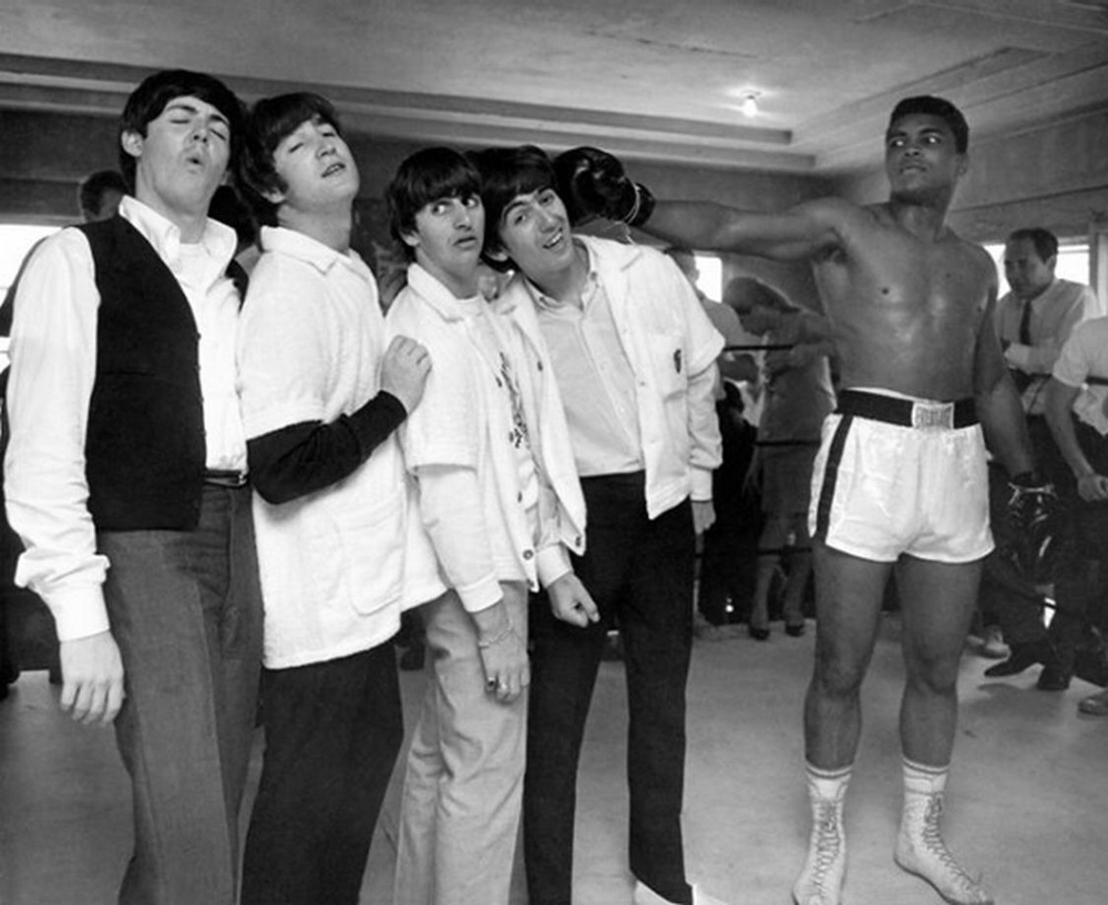The Beatles with Cassius Clay - aka Muhammad Ali, February 18th, 1964.