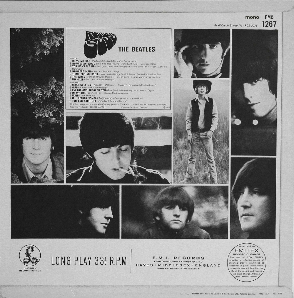Rubber Soul LP, 1965.