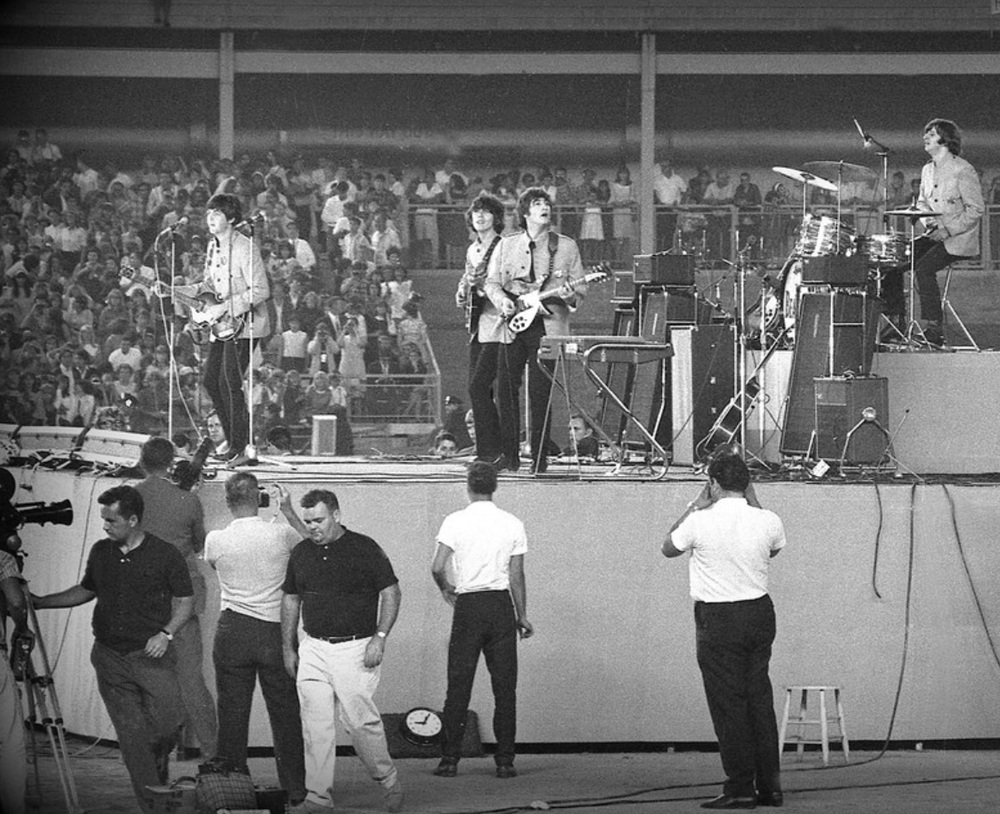 The Beatles at Shea Stadium, August 15th, 1965.