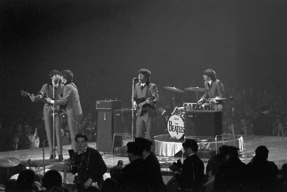 The Beatles at the Washington Colisuem, February 11th 1964.