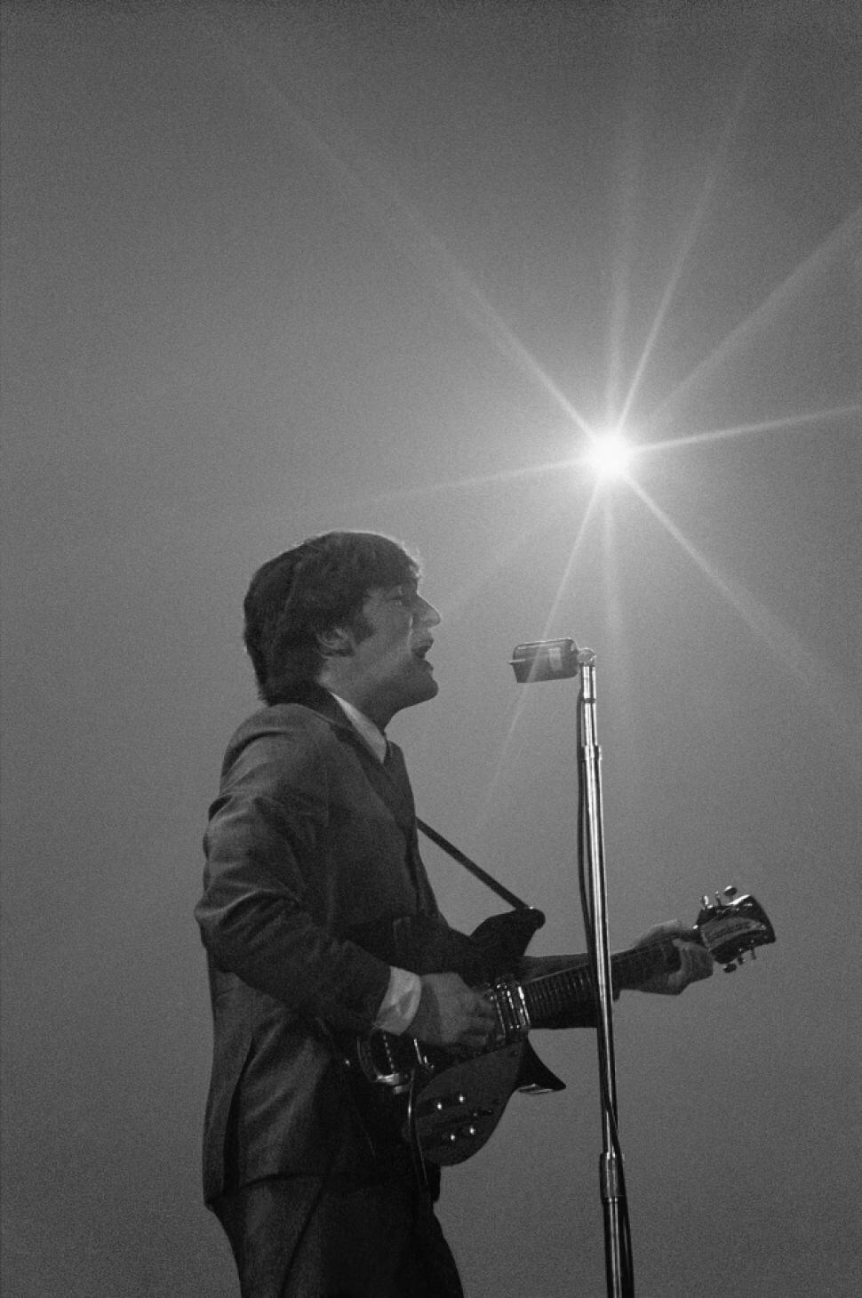 John Lennon at the Washington Coliseum, February 11th 1964.