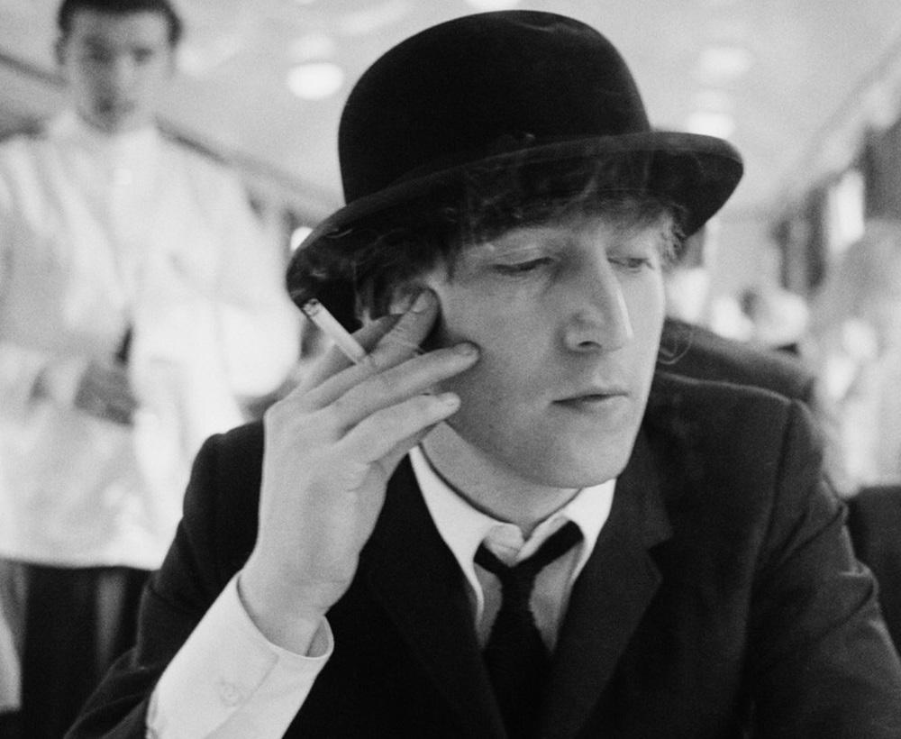 Astrid Kirchherr photograph of John Lennon, 1964.