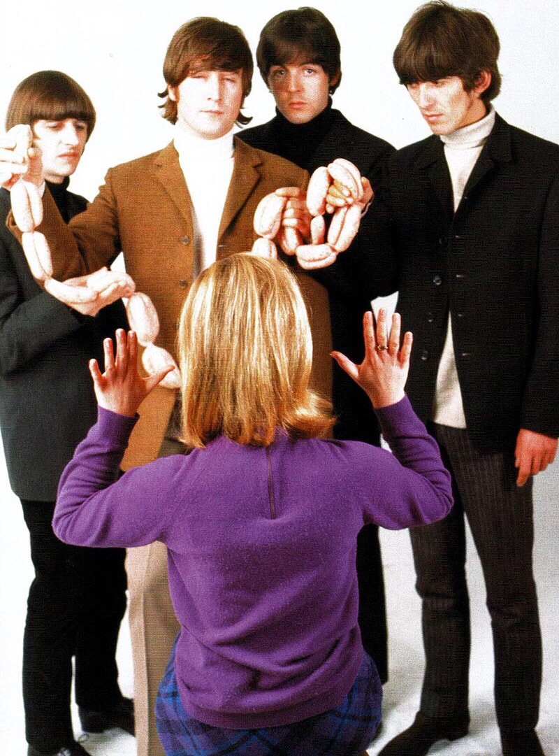 The Beatles at the butcher photo shoot, March 25th 1966.
