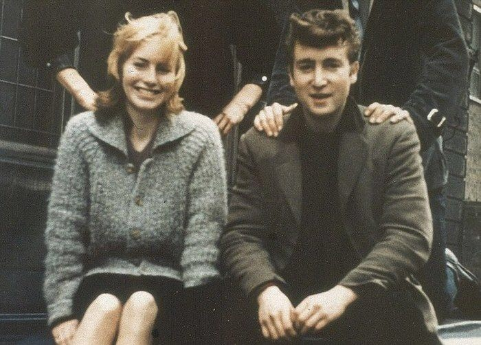 John Lennon and Cynthia Powell outside Liverpool College of Art, 1959.