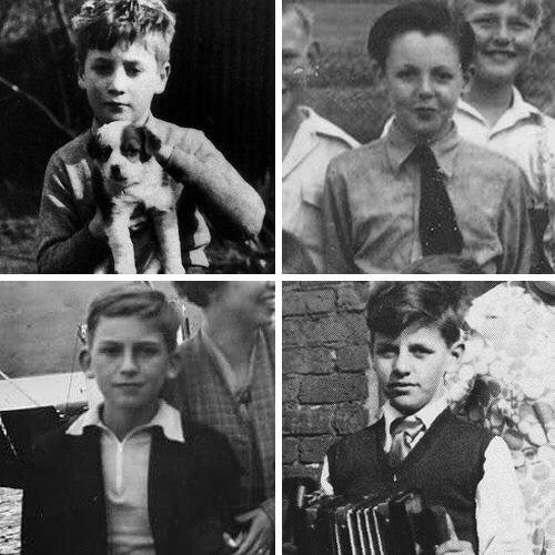 The Beatles when they were just kids.