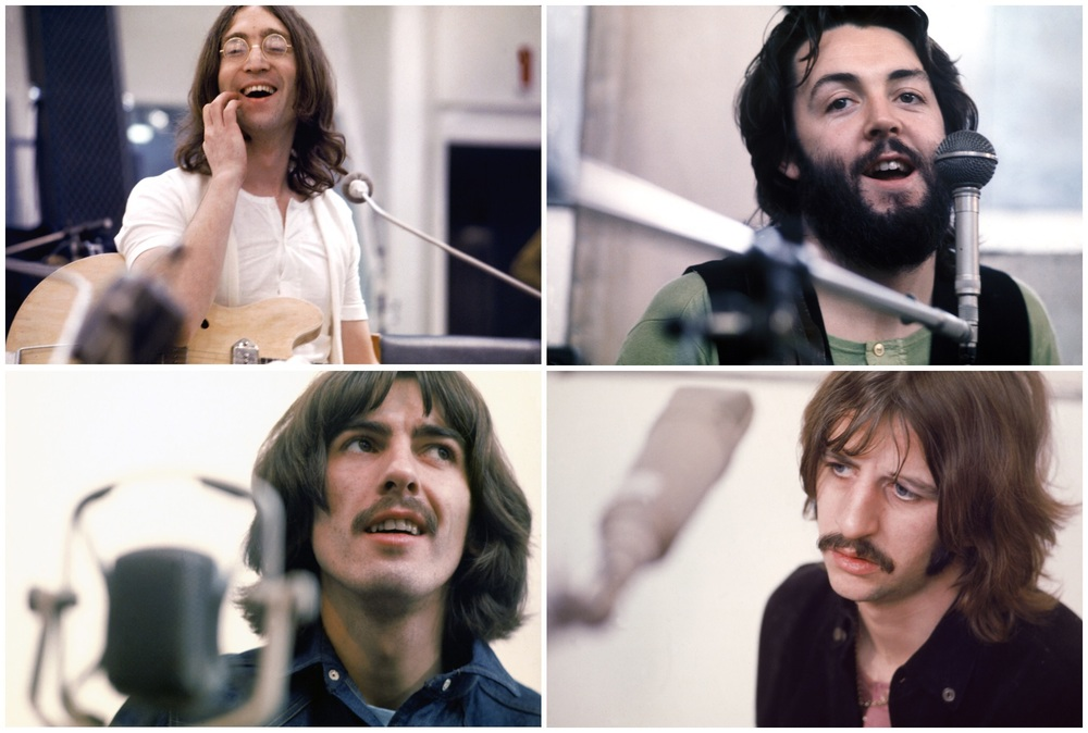 The Beatles recording Let It Be, 1969.