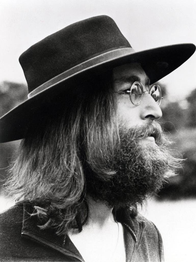 John Lennon at Tittenhurst Park for the Beatles' final photo shoot, August 22nd, 1969.