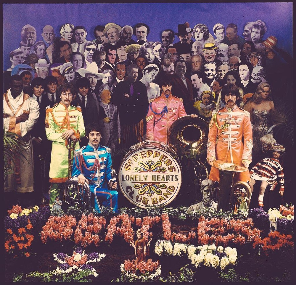 Alternate cover photo for Sgt. Pepper's Lonely Hearts Club Band.