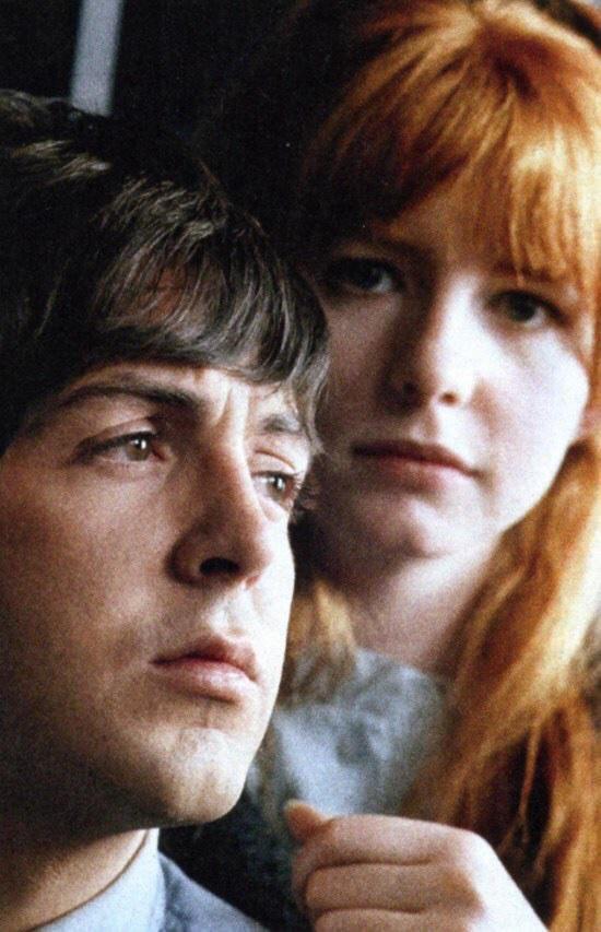 Paul McCartney with girlfriend Jane Asher, 1965.