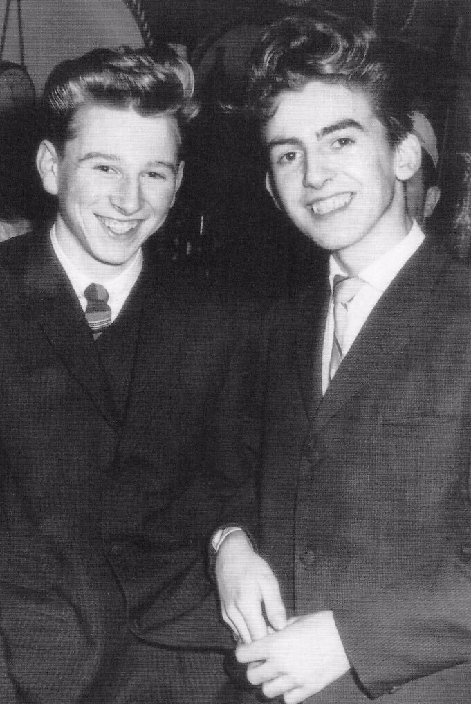 George Harrison age 15 going to a dance.