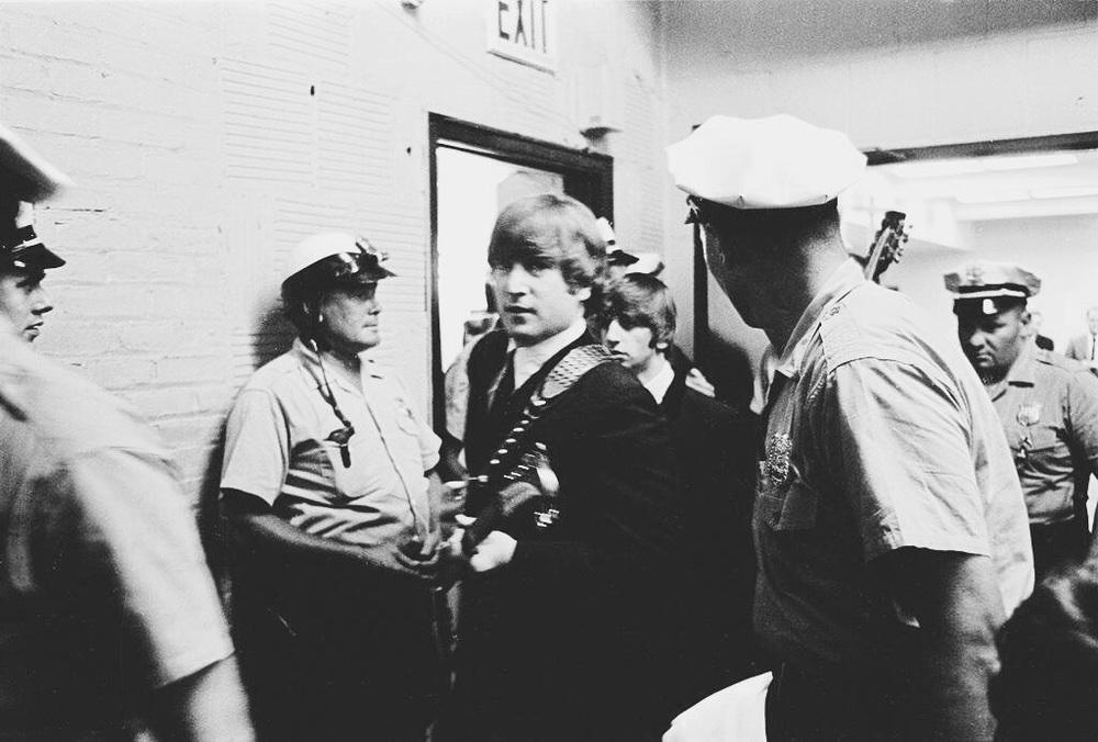 John Lennon and Ringo Starr in the US, 1964.