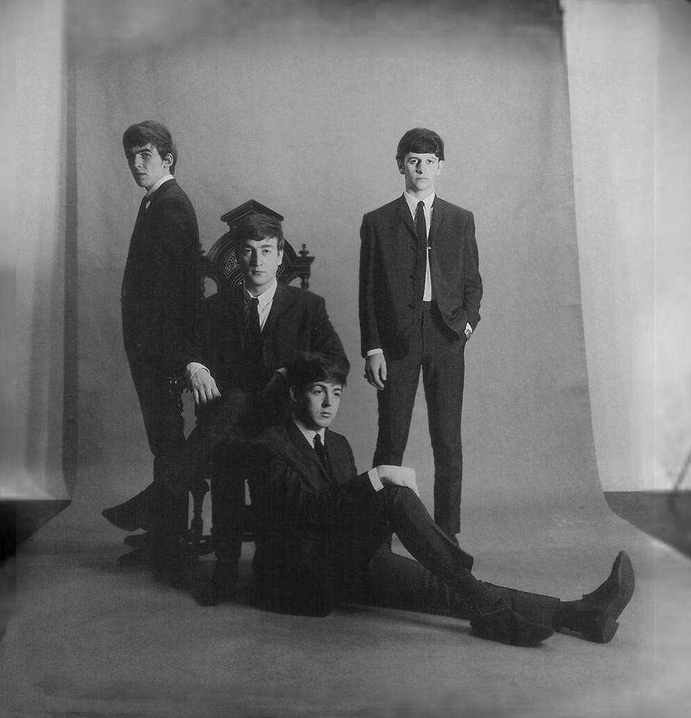 The Beatles publicity photo taken by Astrid Kirchherr, November 1962.