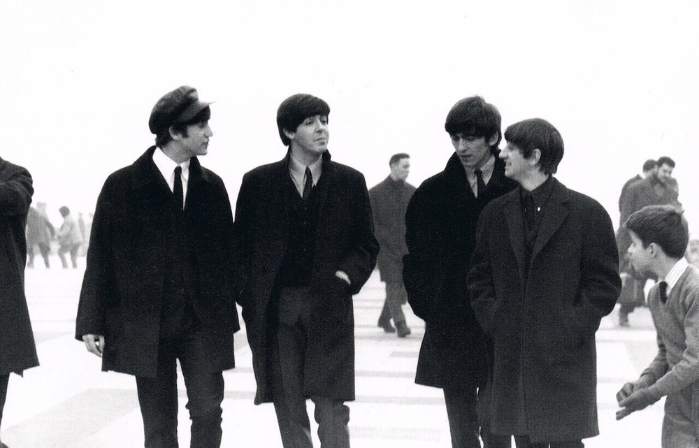 The Beatles sightseeing in Paris, January 1964.