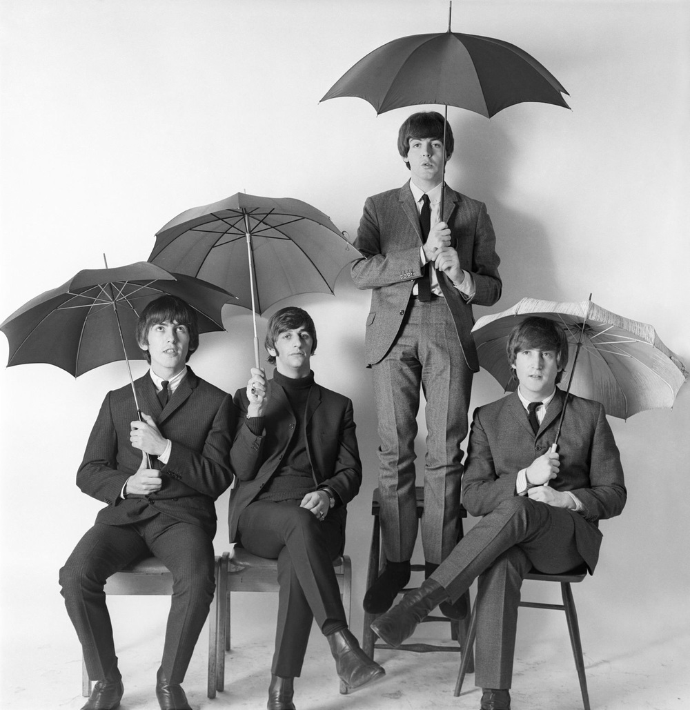 Photo shoot with the Beatles, 1964.
