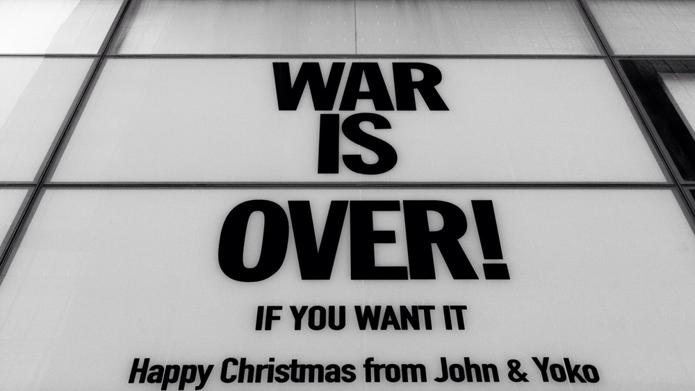 War Is Over peace message, 1969.