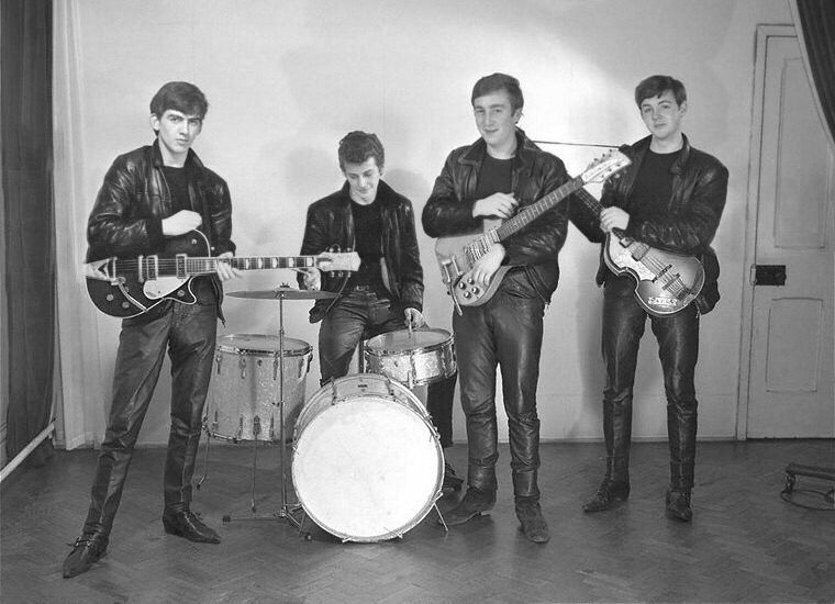 The Beatles first professional photo shoot, December 17th 1961.
