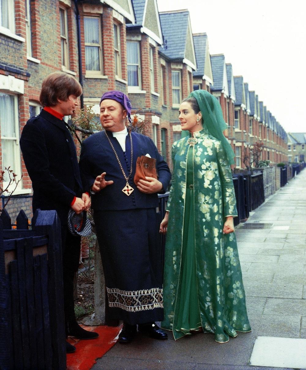 John Lennon filming a scene for Help!