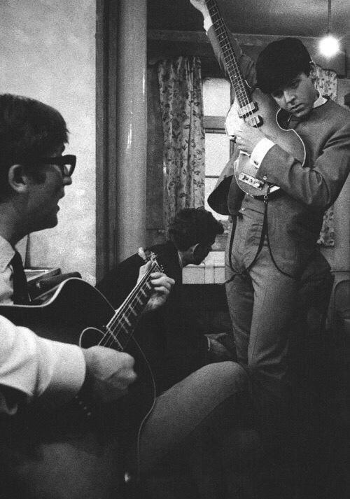 John Lennon and Paul McCartney, 1963.