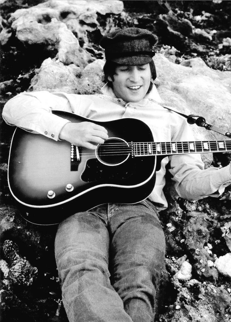 John Lennon filming Help! in the Bahamas, 1965.