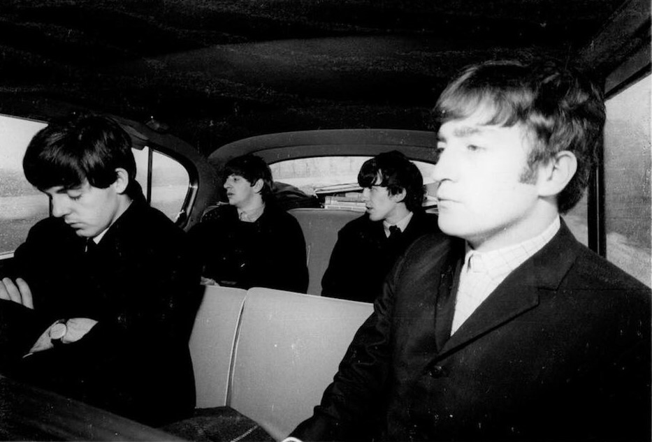 The Beatles on tour in the UK, 1963.