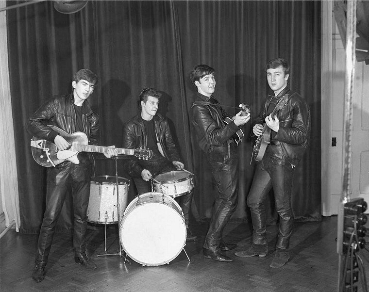 The Beatles' first professional photo shoot, December 17th 1961.