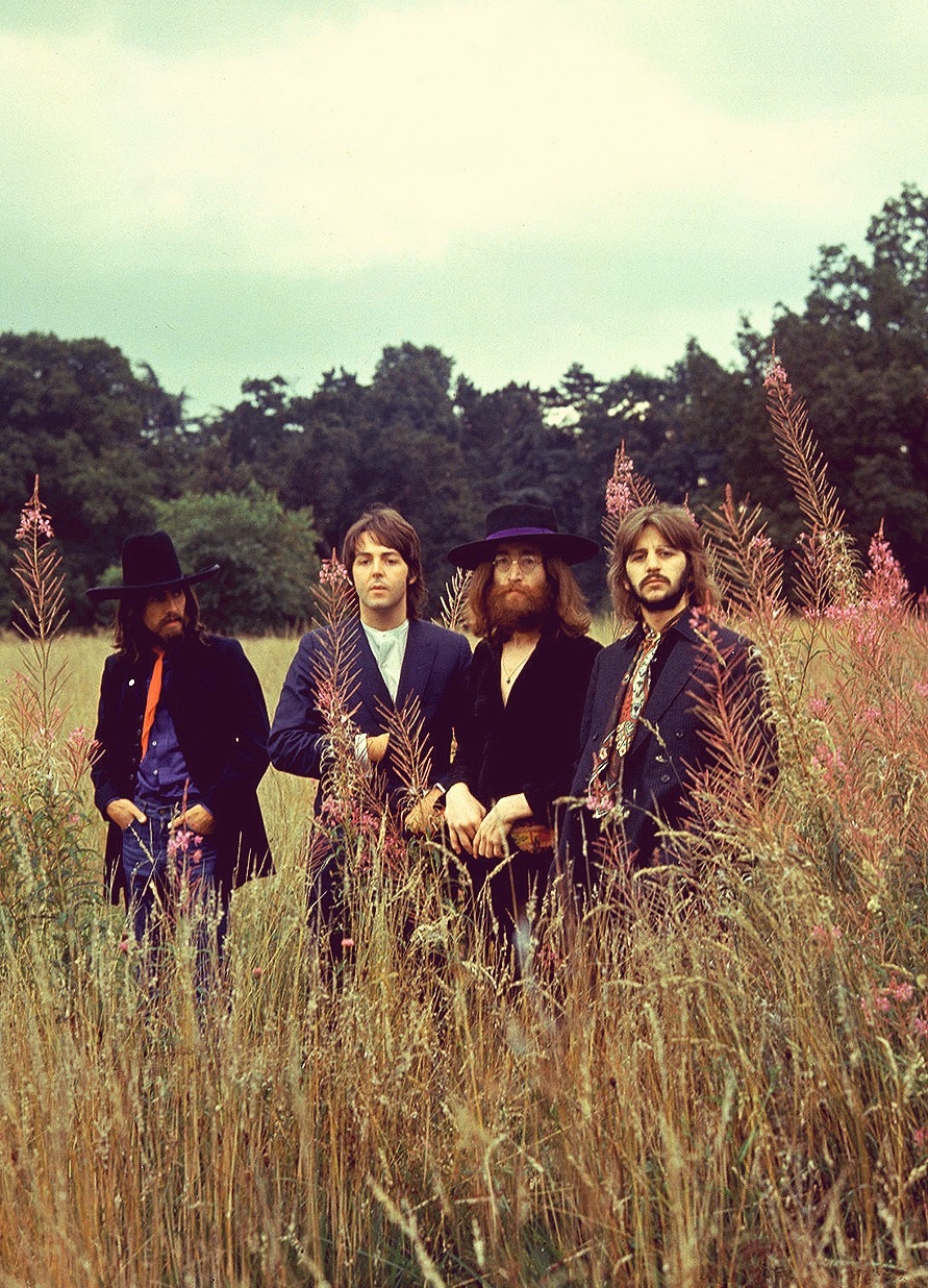 The Beatles at Tittenhurst Park for their final photo shoot, August 22nd, 1969.