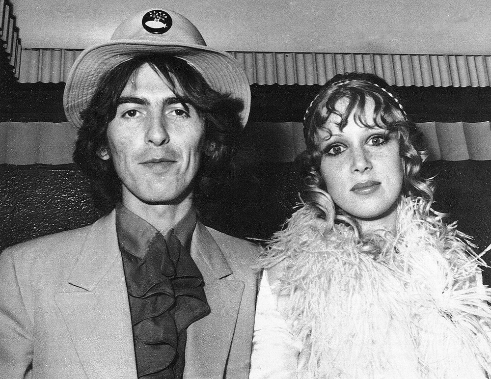 George Harrison and Pattie Boyd at the premiere of Yellow Submarine, July 17th 1968.