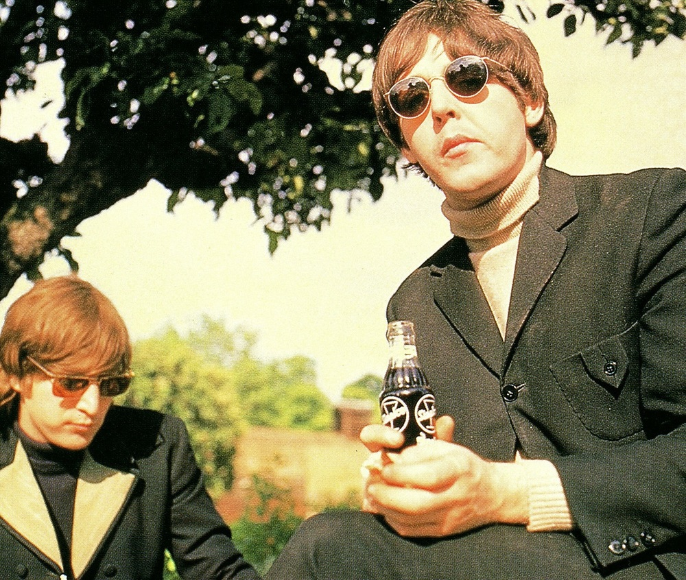 John Lennon and Paul McCartney at Chiswick House, May 20th 1966.