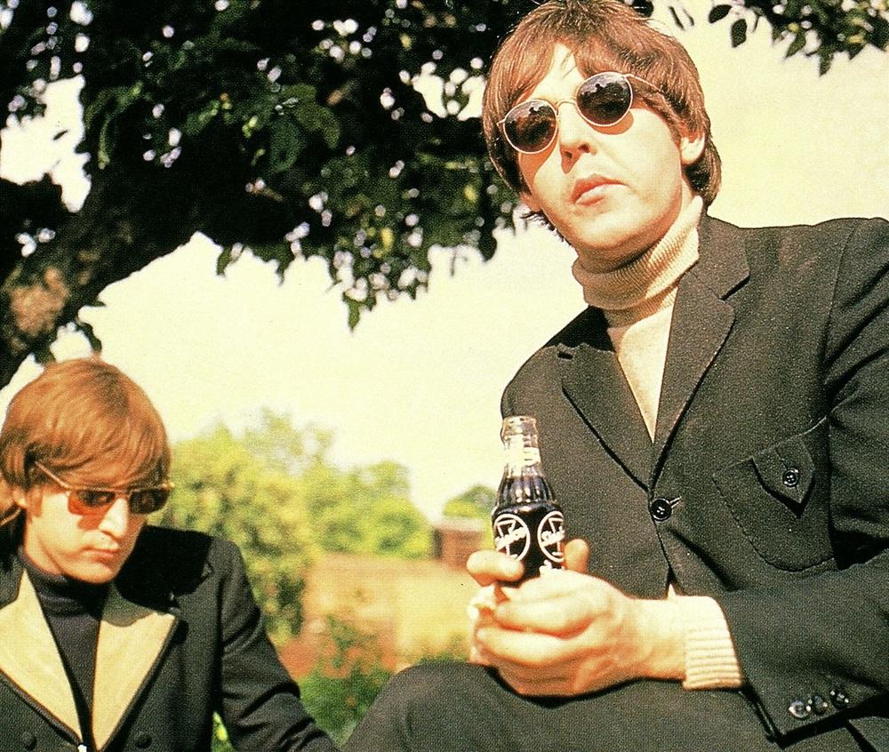 John Lennon and Paul McCartney at Chiswick House, May 20th 1966.