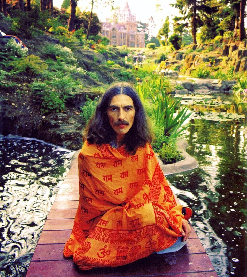 George Harrison at his home in Friar Park.