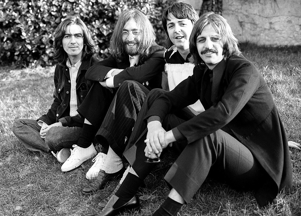 The Beatles at their penultimate photo shoot, 1969.
