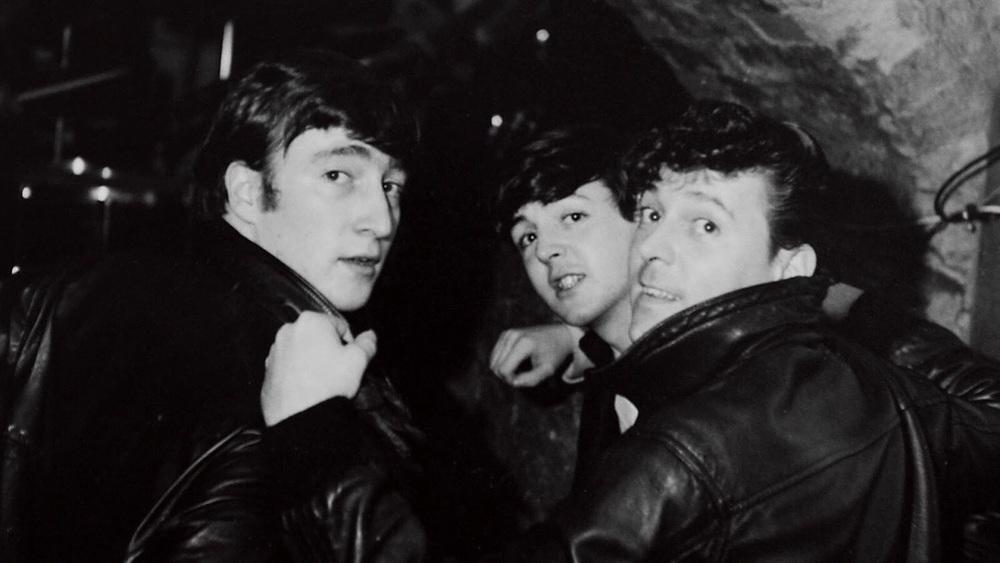 John Lennon and Paul McCartney at the Cavern Club.