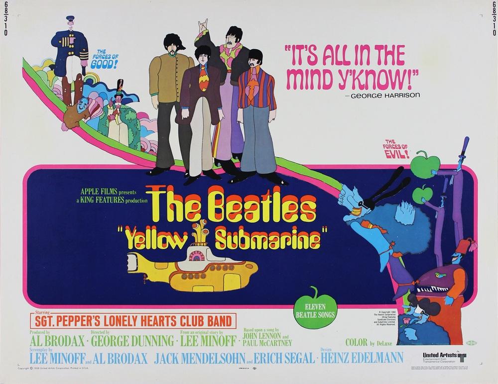 Yellow Submarine movie poster.