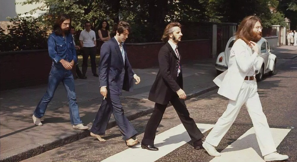 The Beatles crossing Abbey Road, August 8th 1969.