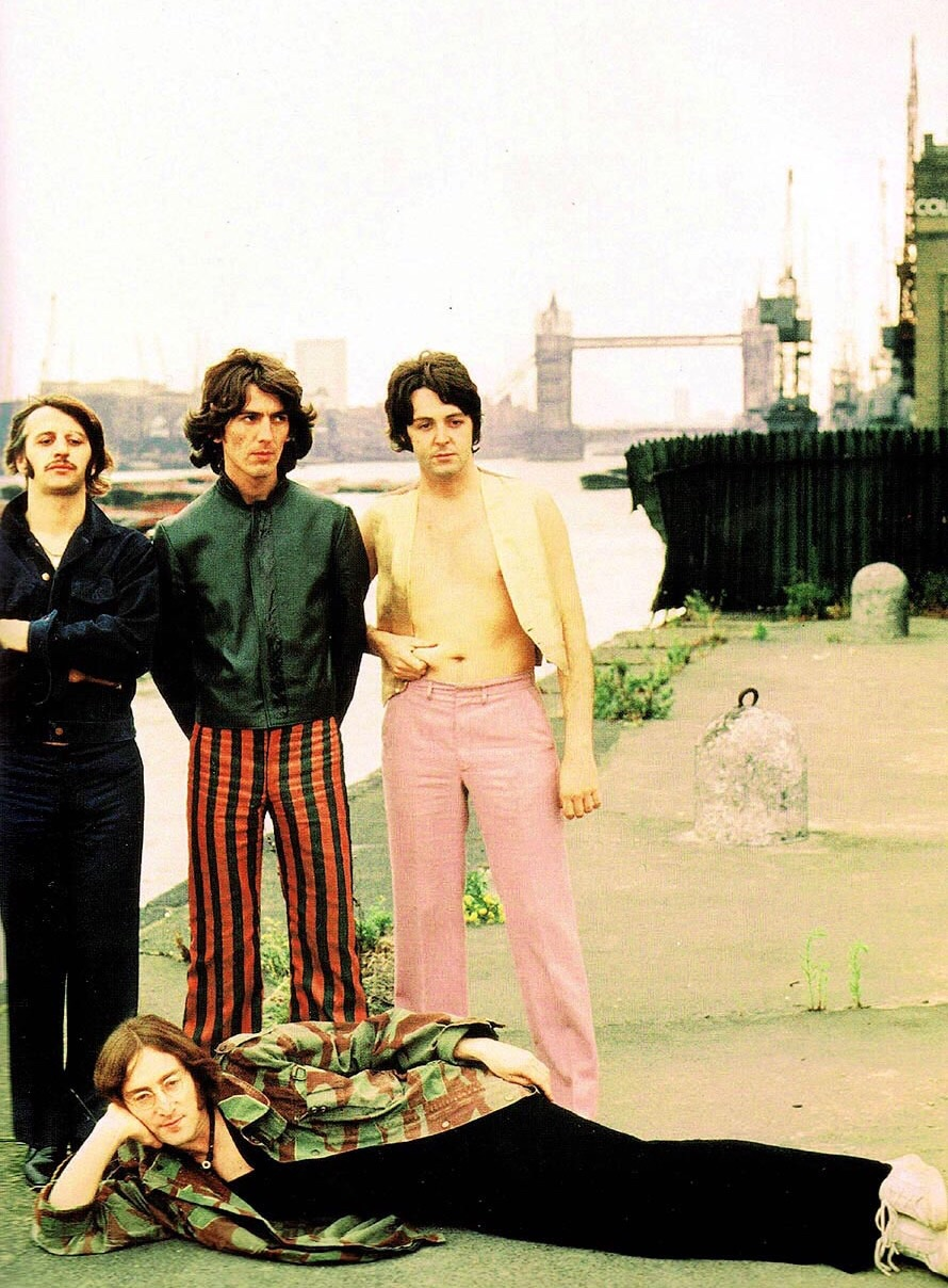 The Beatles on their Mad Day Out photo shoot, July 28th 1968.