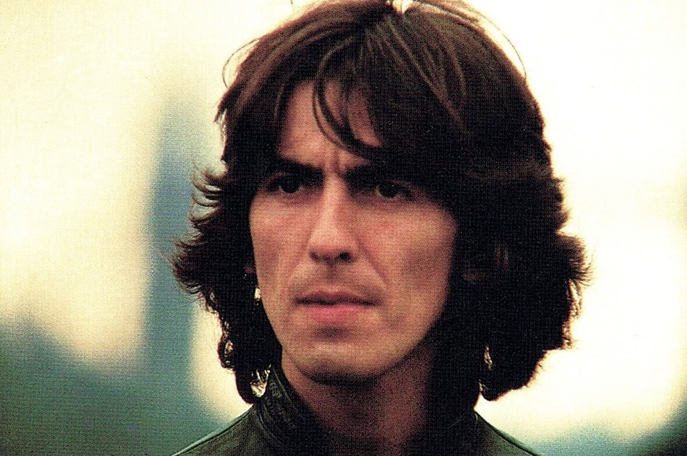 George Harrison on the Beatles' Mad Day Out photo shoot, July 28th 1968.