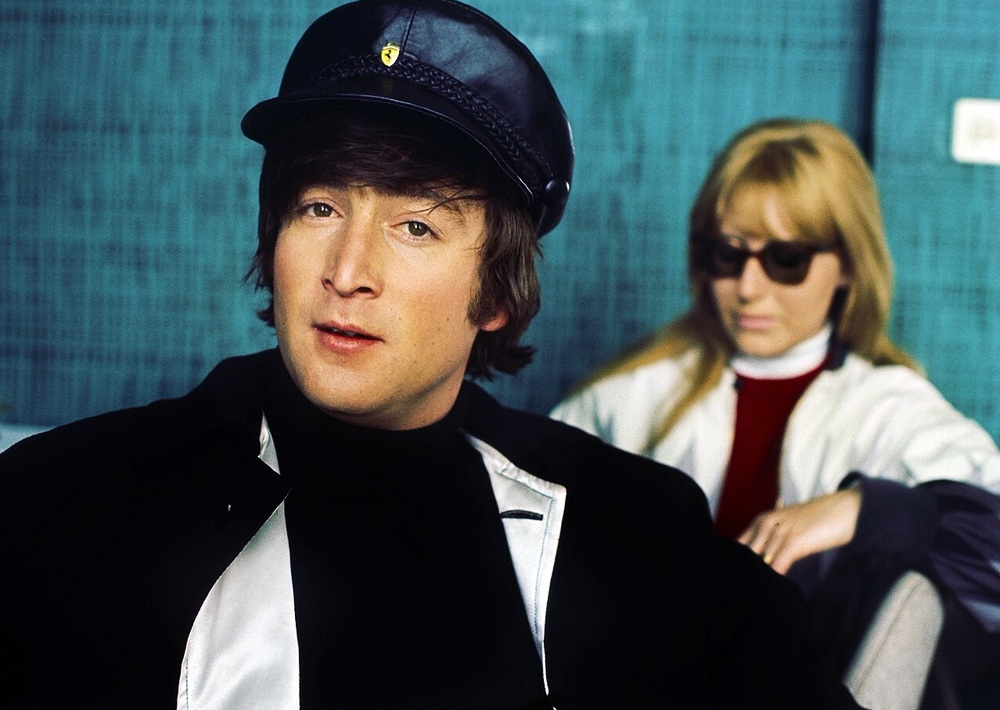 John and Cynthia Lennon in the Swiss Alps, January 1965.