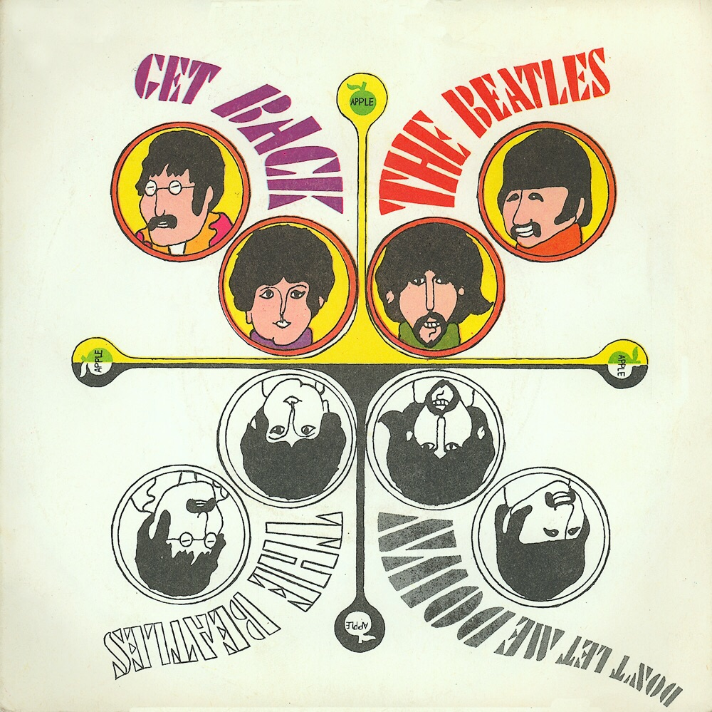 Get Back/Don't Let Me Down single sleeve, 1969.