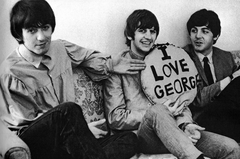 George Harrison, Ringo Starr and Paul McCartney, 1965.