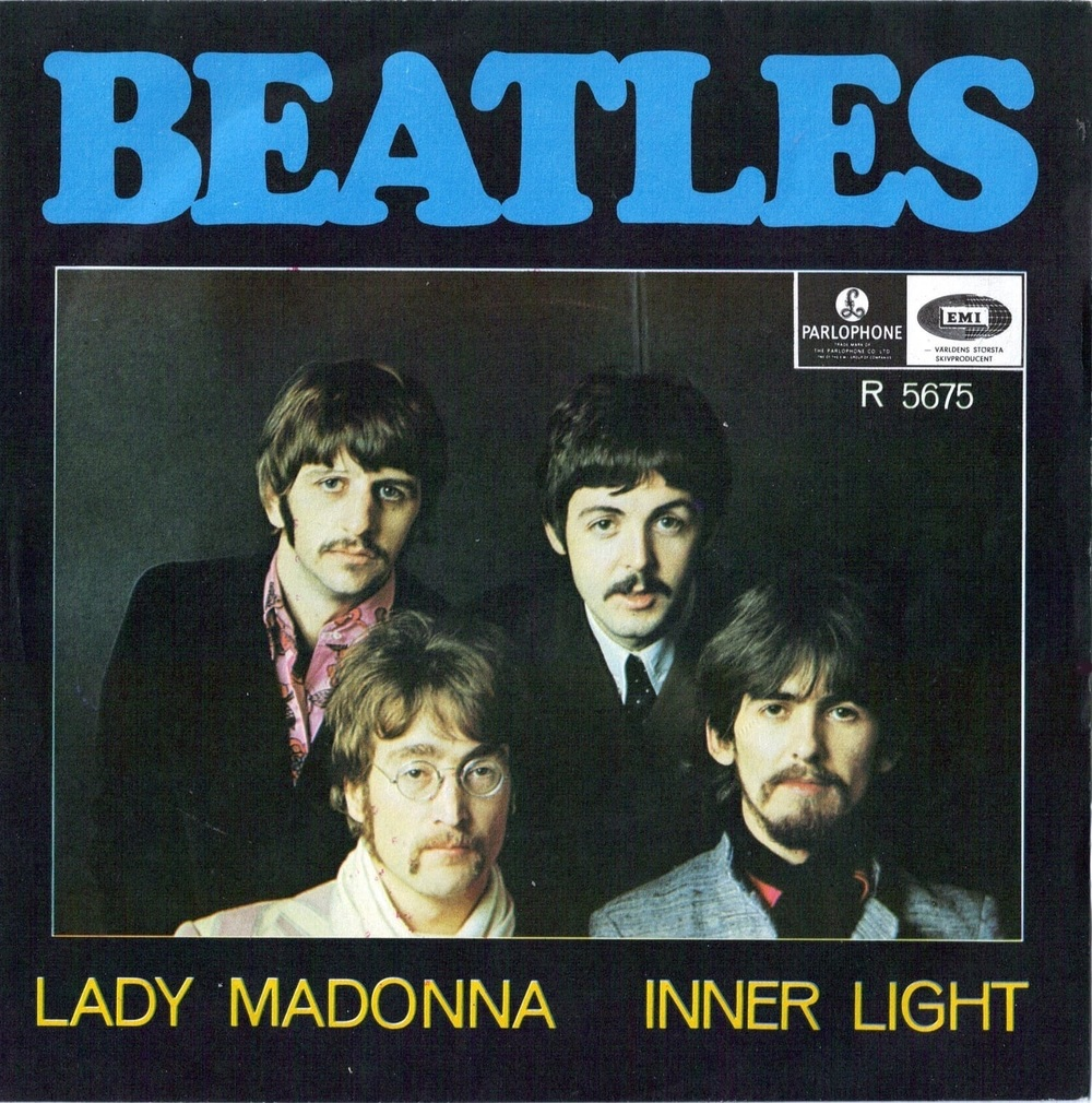 Lady Madonna/The Inner Light single, 1968.