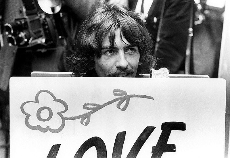 George Harrison promoting All You Need Is Love, 1967.