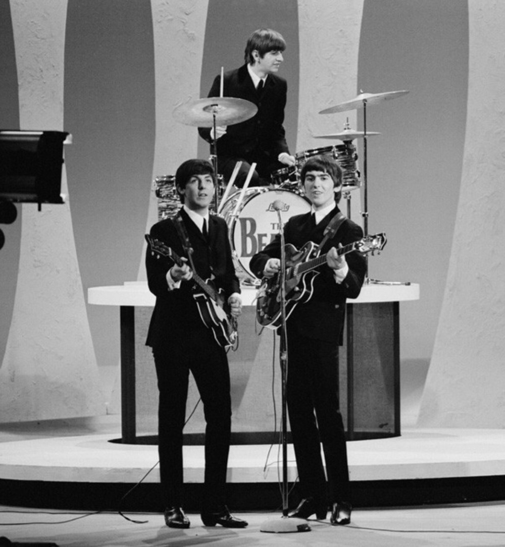 The Beatles on the Ed Sullivan Show, February 9th 1964.