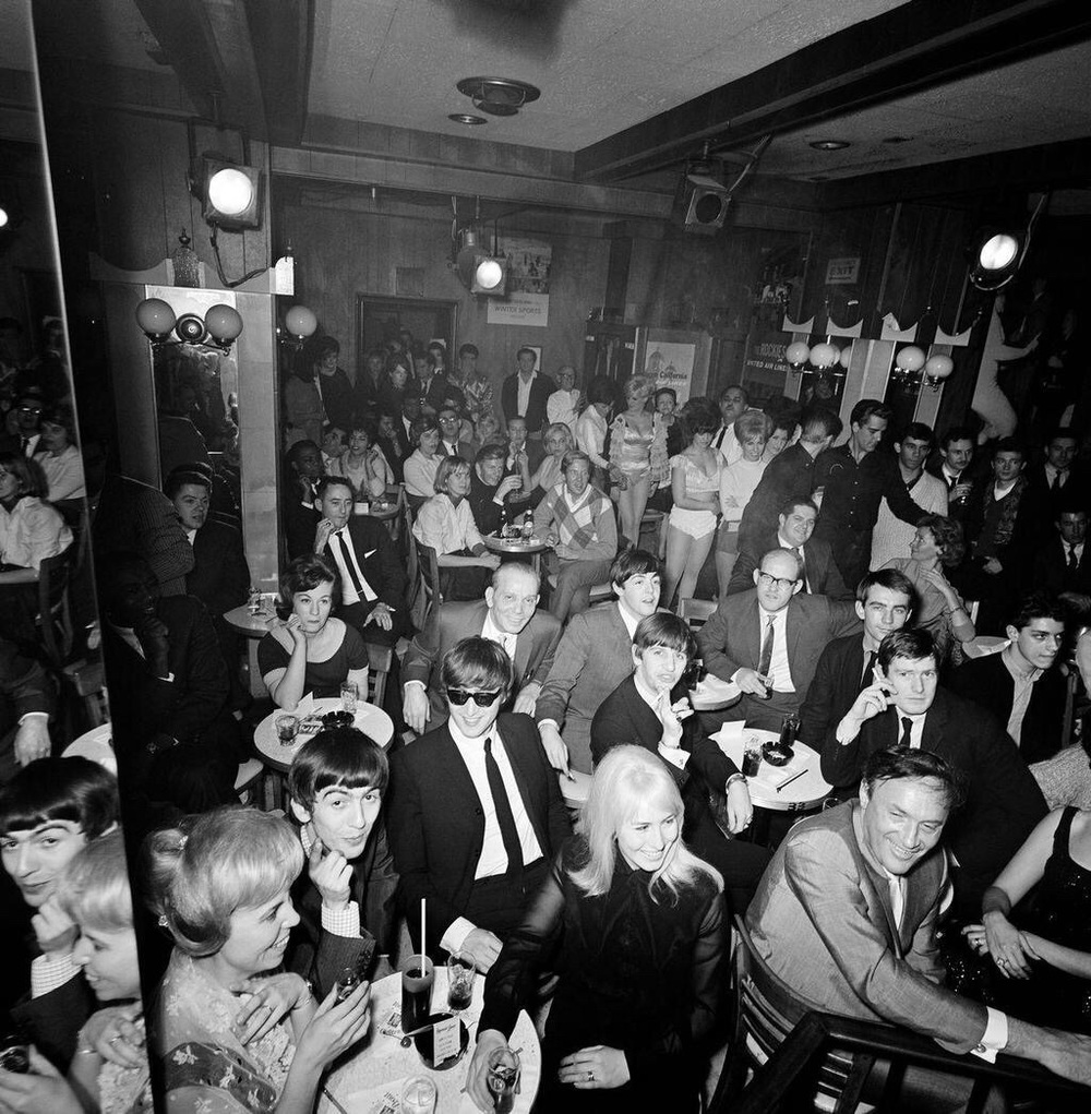 The Beatles at the Peppermint Lounge, February 9th 1964.