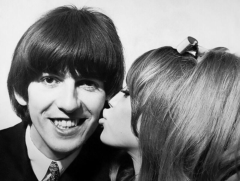 George Harrison and Pattie Boyd, 1965.